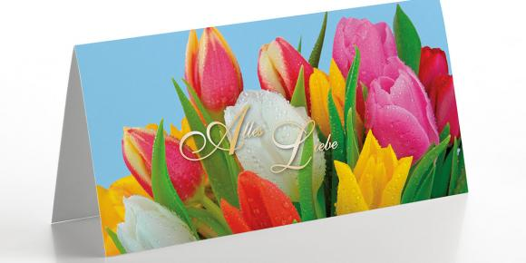 Grußkarte Tulpengrüße