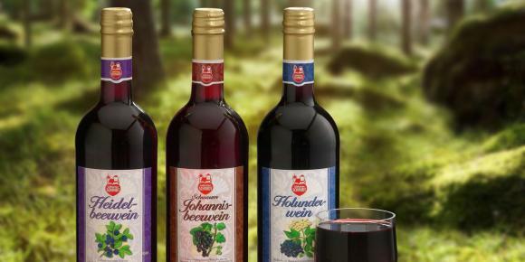 Beerenwein-Sortiment
