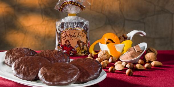 Choice chocolate coated Lebkuchen