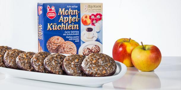 Mohn-Apfel-Küchlein
